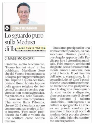 Articolo Nuova Sardegna